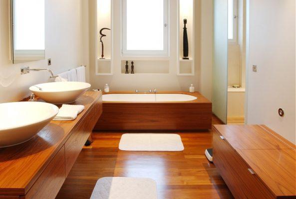Sàn nhựa chịu nước lát cho phòng tắm