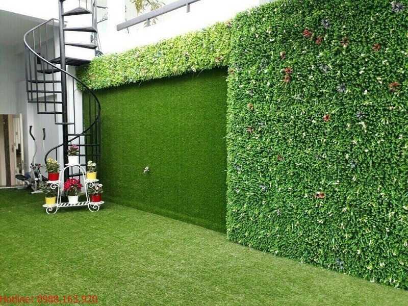 Thảm cỏ nhân tạo dán tường