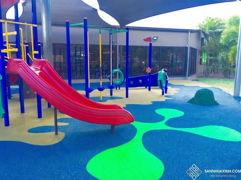 Sàn cao su sử dụng cho khu vui chơi trẻ em