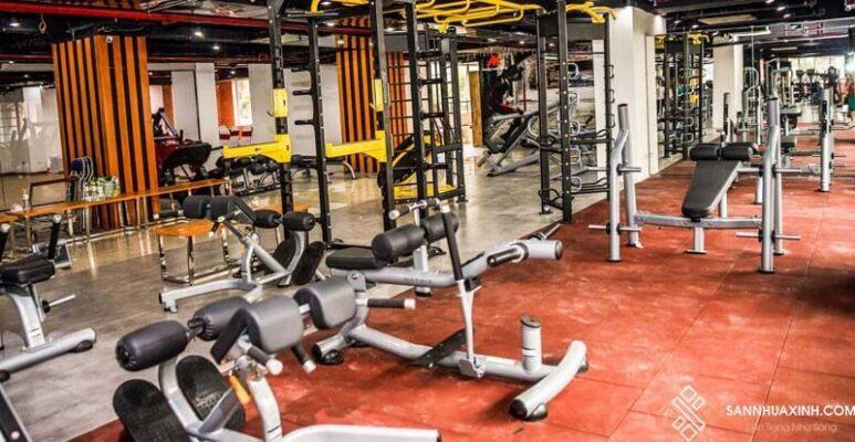 Sàn cao su sử dụng cho phòng gym